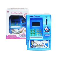 Mainan Edukasi Anak - Celengan ATM Mini Happy Bank Doraemon Inggris