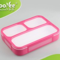 Yooyee Kotak Makan Grid Bento Lunch Box 3 Sekat Anti Bocor anti tumpah
