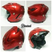 Bagus nyaman Helm Centro Hybrid Double Visor Standar SNI Half Face