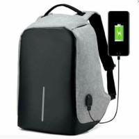 Tas Ransel USB Port Charger, Smart Backpack Anti Air, Anti Maling