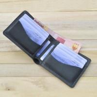 dompet pria kulit sapi asli warna hitam | bifold wallet melengkung