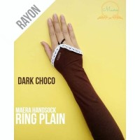 handsock ring plain rayon / manset cincin renda