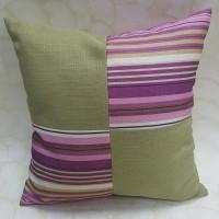 Sarung bantal Sofa Kombinasi Impor Hijau Pink - 45 x 45