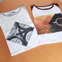 Kaos Raglan Lengan Pendek Print DTG Limited Design