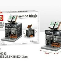mainan block brick lego toko buku