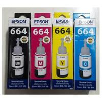 Tinta Epson L-Series 664 Black, Cyan, Magenta, Yellow Original