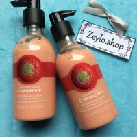 ASLI THE BODY SHOP STRAWBERRY BODY LOTION 250ML