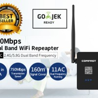 WIFI Repeater 750Mbps Router Extender 11ac/b/g/n DUAL BAND Versi 2