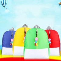 tas ransel anak BDS Cartoon Bear Pendant Children Backpack Kindergarte