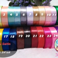 Pita Satin 3/4 Inch / 2 cm per roll Warna Kedua