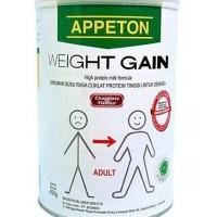 Susu gemuk appeton weight gain 450gr rasa coklat. penambah ber Limi