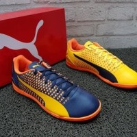 Sepatu Futsal Puma Adreno III IT Yellow Peacoat