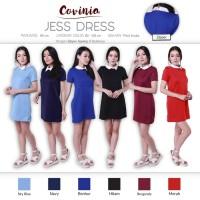 Jess Dress White Collar Basic Dress Casual Elle Dress Mini