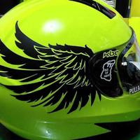 cutting sticker sayap helm kanan kiri sepasang satu warna