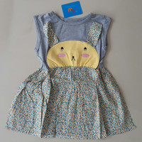 SALE DRESS ANAK GW RABBIT FLOWER