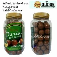Coklat alfredo 450g durian toples cokelat botol jar