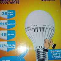lampu bohlam LED tepuk/sensor suara 15 wat