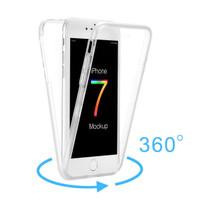 360 Transparan Bening Softcase soft Case Casing iPhone 6 6S 7 8 X Plus