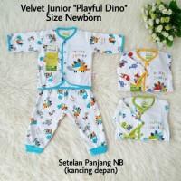 Baju Tidur Bayi Newborn Setelan Panjang Piyama Velvet Junior Playful