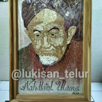 Lukisan Dekorasi Hiasan DIY Kaligrafi Canvas Dinding Kerajinan NU