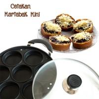 CETAKAN KUE LUMPUR MARTABAK MINI / CAKE PAN 7 LUBANG DATAR Q2