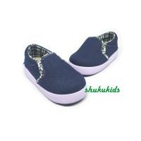 Sepatu Anak Laki-Laki Model Slip On Jeans Denim Casual Trendy