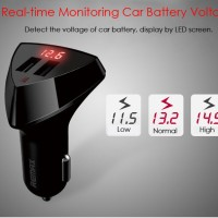 Remax Aliens Series RCC-208 Car Charger With Volt Display 2 USB 3.4A