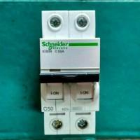 (Diskon) mcb IC60N 2phase 50A 6ka schneider