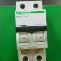 (Murah) mcb IC60N 2P63A 6ka schneider