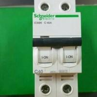 (Murah) mcb IC60N 2phase 40A 6ka schneider
