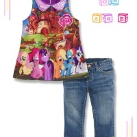 OK 26 E Kids - Little Pony - Setelan Jeans Import