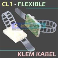 CL1 Flexible Cable Tie Holder Wire Clamp Kabel Klem Clip Pengikat Rapi