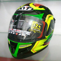 Helm kyt k2 rider superfluo seri 2 yellow green fluo limited edition