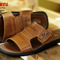 SANDAL CASUAL PRIA KICKERS BRIDGE TAN KULIT ASLI