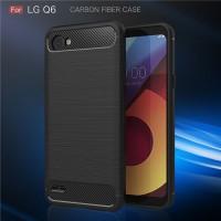 LG Q6 - Q6 Plus spigen like cover soft case casing carbon FIBER LINE