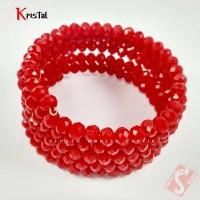 Gelang Tangan Batu Kristal Natural Asli Original Lilit Merah Terbaru