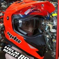 Helm MDS Super Pro Solid Orange Fluo supermoto Double VISOR