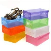Transparant shoes box - kotak sepatu transparan warna-warni KML