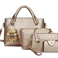 Tas import handbag selempang dompet kartu gantungan boneka 120752