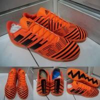 Sepatu Futsal Adidas Nemeziz 17+ 360 Unlock Agility IC Orange Black