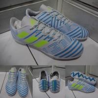 Sepatu Futsal Adidas Nemeziz 17+ 360 Unlock Agility IC White Blue Biru