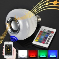 Bohlam Speaker Musik Bluetooth 2 in 1 - Lampu Speaker LED FLECO F-676