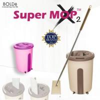 Bolde Supermop X2 Bulat Alat Pel Lantai Otomatis Peras Bilas Super Mop