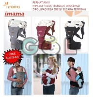 Gendongan Bayi Baby Carrier Hipseat Hip Seat Carrier imama aimama - NO DROLLPAD, Abu-abu Muda