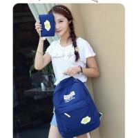 Tas Ransel Backpack Punggung Wanita Cewek Fashion Lucu 4 in 1 Import -