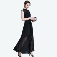 JEHShop Long Dress Wanita Model Korea - De'Lady