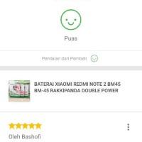 Baterai Xiaomi Redmi Note 2 Bm45 Bm-45 Rakkipanda Double Power Murah