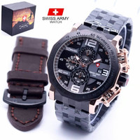 Jam Tangan Pria Swiss Army SA -119 Chrono ,Water Resist + Box Original