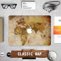 CLASSIC MAP - Premium MacBook Skin Decal Cover Sticker