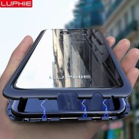 Samsung Galaxy S9 S8 Plus Note 8 9 Luphie Magnetic Bumper Case Cover